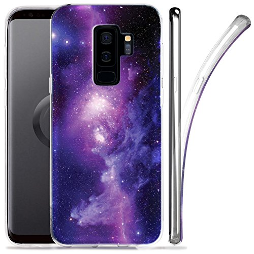 - Galaxy S9 Plus Case, ZUSLAB Nebula Pattern Design, Slim Flexible Shockproof TPU, Soft Rubber Silicone Glossy Skin Cover for Samsung Galaxy S9 Plus, 2018 (Nebula A2)