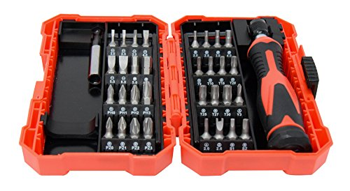 Texas Best Screwdriver Set | Chrome CR-V Screwdriver Bits | Small Storage Case | 34 Pieces