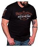 Harley-Davidson Men's Distressed Superior Arch Short Sleeve T-Shirt, Black