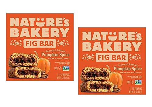 Nature's Bakery Pumpkin Spice Real Fruit, Whole Grain Fig Bar - 12 ct. (24 oz.) by Nature's Bakery FB