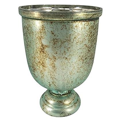 Amazon Ab Home Group Emerald Green Vase Wshiny Metalic Finish