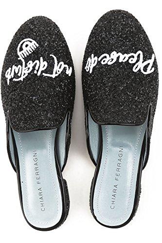 Black CHIARA FERRAGNI Women's Glitter CF1823 Sandals qwT6w8