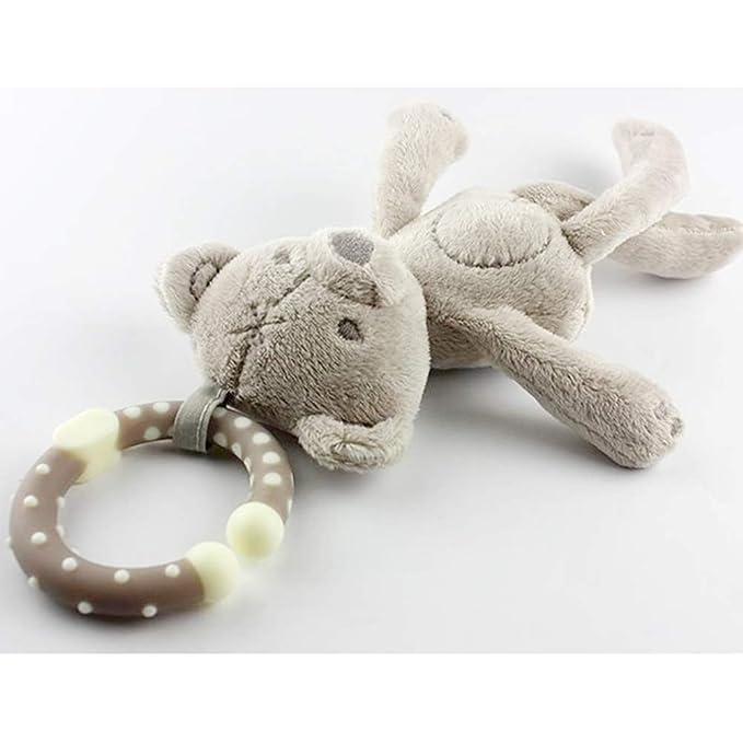 Felpa del traqueteo del juguete que cuelga suave del bebé ...