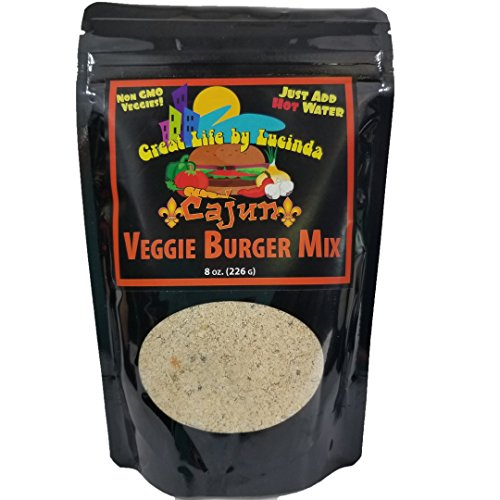 All Natural Instant Veggie Burger Mix, Cajun Style 8 Ounce Package (Soy Burger Patties)