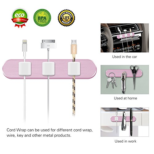 Leather Solutions Clip Wireless (Cable Management Magnetic Cable Clip, ChuangSiAo Magnetic Cable Organizer Multipurpose Cable Clips for Power Wires,Charging Cables,USB Cords,Car Charger Cord Organizer,Headphones Wires,Washing Glue)
