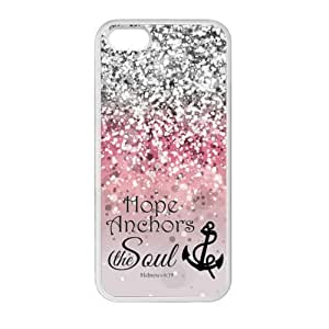 Generic Hope Anchor Soul Hebrew 6 plus 5.5:19 - Bible Verse Pink Sparkles Glitter Pattern TPU Case for Iphone 6 plus 5.5