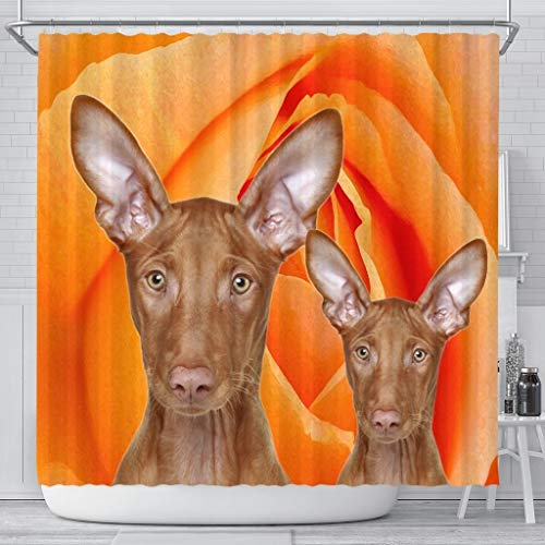 Paws With Attitude Pharaoh Hound Dog Print Shower Curtains