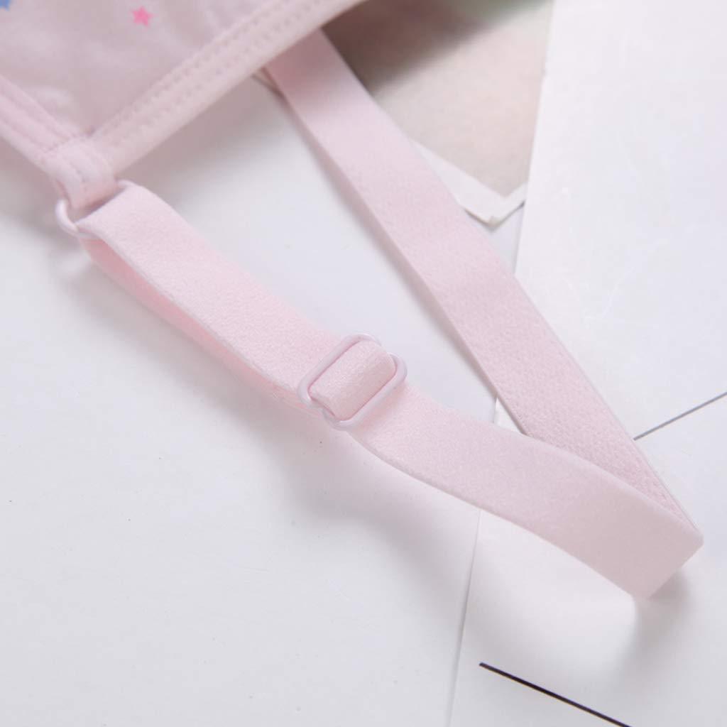 Tubicu Puberty Girl Candy Color Sport Training Reggiseno Intimo Cute Little Star Print Wireless Bralette Cinghie Regolate Cotone Vest 8-16T 2