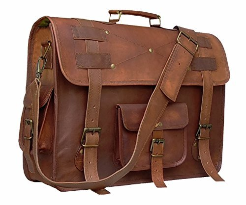Cuero 16 Inch Retro Buffalo Hunter Leather Laptop Messenger Bag Office Briefcase College Bag (choclate brown)
