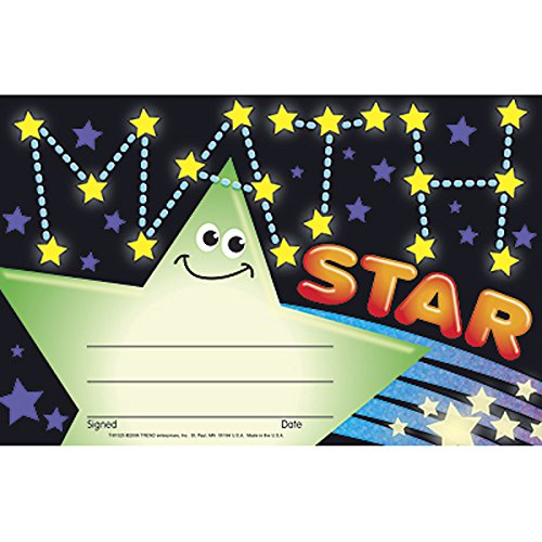 UPC 078628810257, Trend Enterprises Math Star Award, 30 per Package (T-81025)