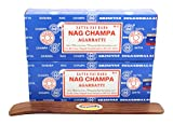 Govinda Satya Bangalore (BNG) Nag Champa Argarbatti 250 Grams (Pack of 2) Incense Holder