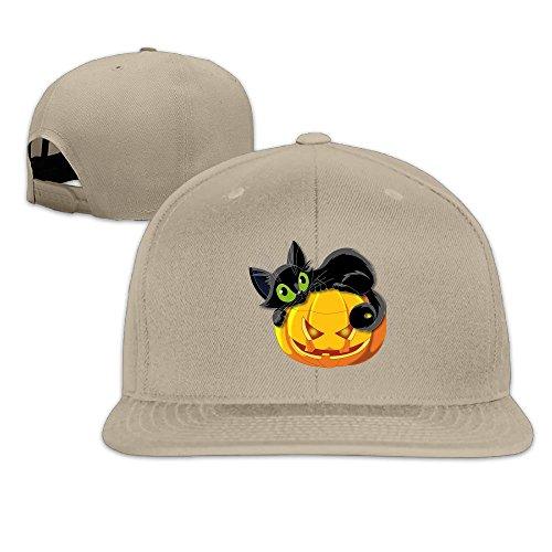 Halloween Cat Flat Brim Baseball Hat