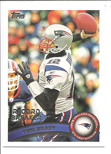 Record Patriots New England (Tom Brady New England Patriots 2011 Record Breaker Checklist Football Card #204)