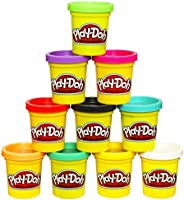 Play-Doh Modeling Compound 10 Pack Case of Colors, Non-Toxic, Assorted Colors, 2 Oz Cans, Ages 2 & Up, (Am