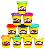 Toys : Play-Doh Modeling Compound 10-Pack Case of Colors, Non-Toxic, Assorted Colors, 2-Ounce Cans, Ages 2 and up, (Amazon Exclusive)