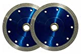 8 wet cutting blade - 4.5-5/8-Inch Diamond Saw Blade for Cutting Granite Ceramic Marble Porcelain Tiles (Pack of 2)