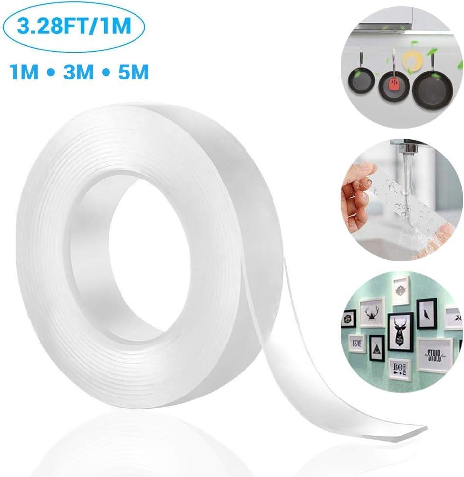Hot Multi-Function Magic Tape Transparent Removable Traceless Washable Tape