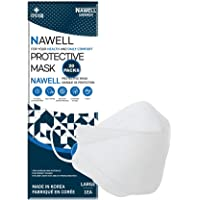 [20 Packs] NAWELL Face Mask 4 Layer Filter Structure Lightweight White Face Mask Made in Korea [20 Individually Packaged…