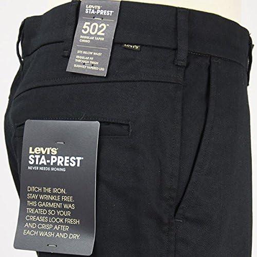 STA-PREST スタプレ 502 レギュラーテーパー チノ 国内正規品 ストレッチツイル ブラック 47959-0004