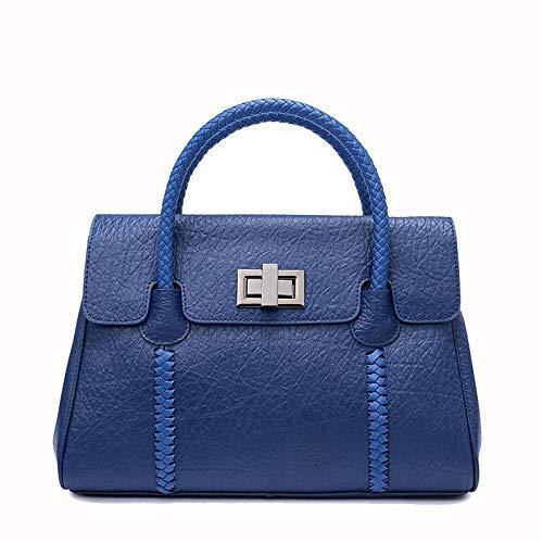 Intrecciata Pelle A colore Blu Purple Lxyfms Coreana Borsa Da Borsetta Donna Tracolla Moda In SqYxFUXxw