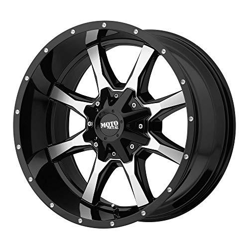 MOTO METAL MO970 GLOSS BLACK W/MACHINED FACE MO970 18x9 5x127.00/5x139.70 GLOSS BLACK W/MACHINED FACE (18 mm) rims (2007 Dodge Ram 1500 Rims And Tires)