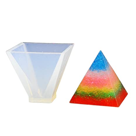 Molde de silicona piramidal, YooGer Resina de bricolaje Joyería artesanal decorativa Fabricación de moldes artesanales