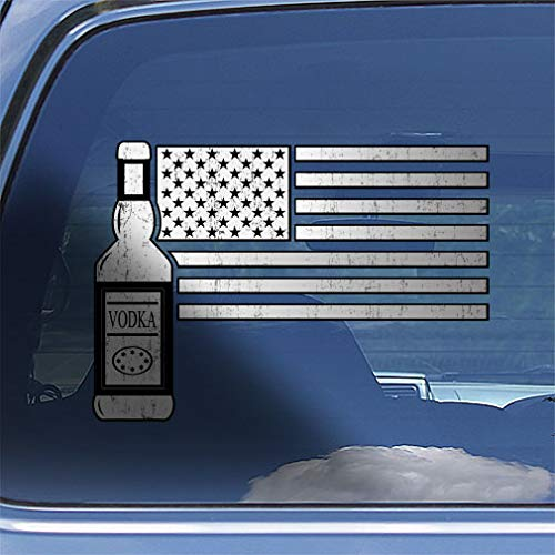 American Flag Bartender Decal Sticker ()