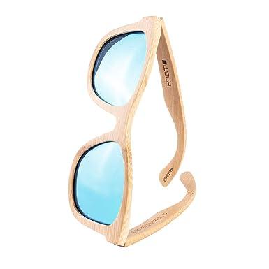 WOLA estilo cuadradas gafas de sol en bambú SURF mujer y ...