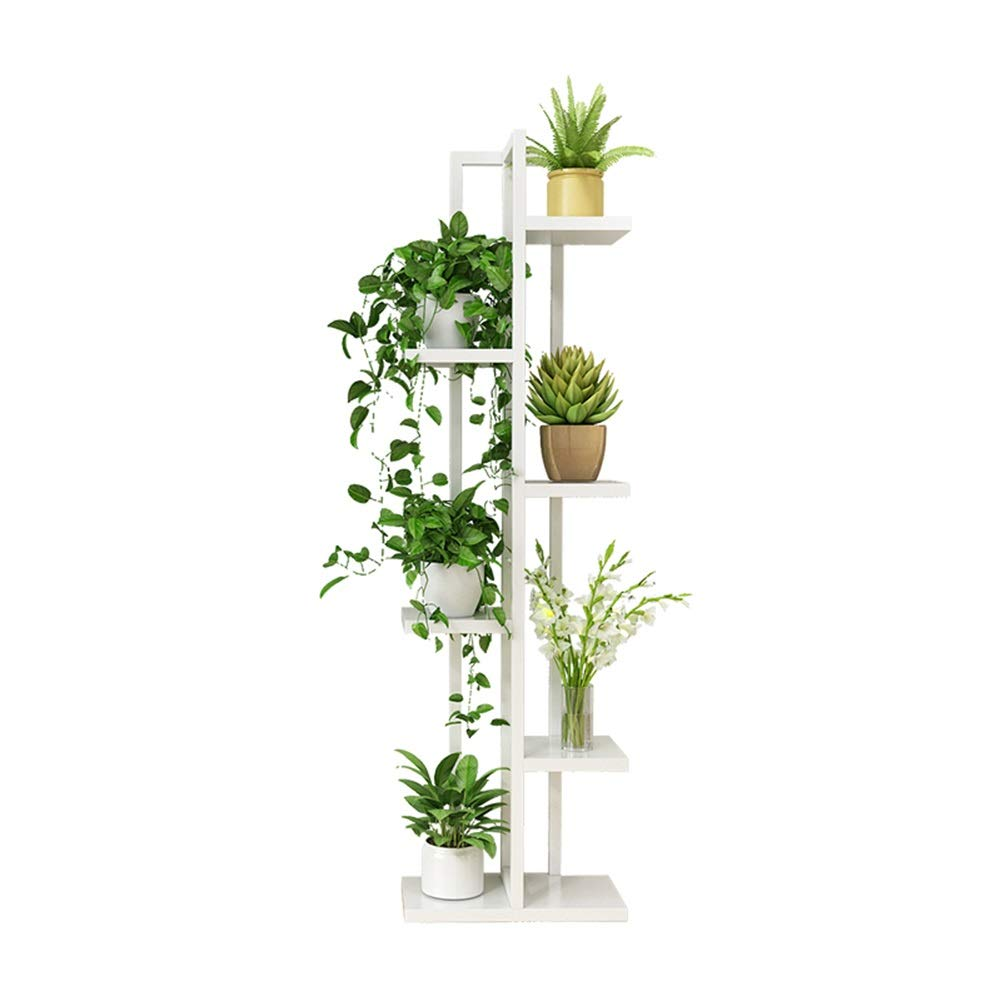 color : White Multi Storage Corner Plant Shelf for Indoor and Outdoor Flower Pots Flower Stands 6 Tier Easy to Assemble