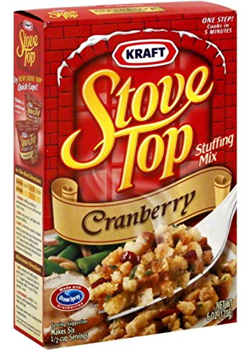 amazon com kraft stove top cranberry stuffing mix net wt 6 oz
