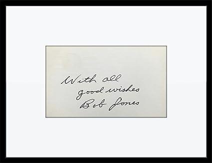 Framed Bobby Robert T. Jones Golf Autograph with Certificate of ...