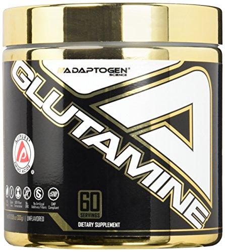 Adaptogen Science Glutamine Instantized Supplement, 300 Grams by Adaptogen Science