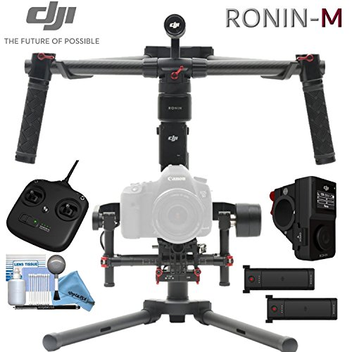 DJI Ronin-M Bundle - (Version 3) - Includes Wireless Thumb Controller, Remote Controller, 2 Batteries, Magnetic DJI Lapel Pin and more... by eDigitalUSA