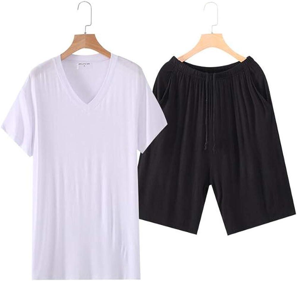 Pijama modal para hombre Bystar manga corta ropa de dormir pantalones cortos de verano