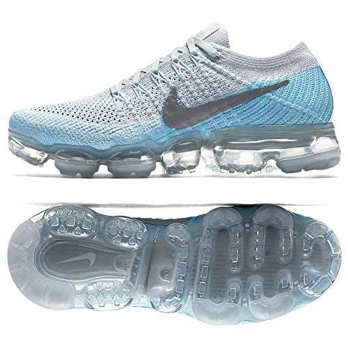 6a4c4c4a25adb Galleon - NIKE WMNS Air Vapormax Flyknit Ice Flash 849557-014 Platinum Blue  Women s Running Shoes (9)