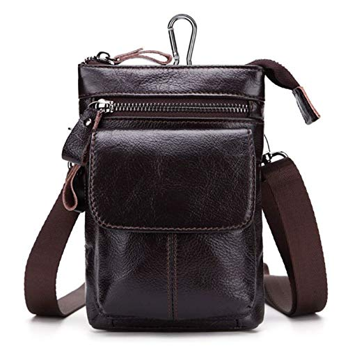 LHKFNU Universal Leather Phone Pouch Bag Belt Loop Holster Card Case Cover Waist Bag Pack