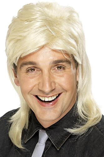 [Smiffy's Men's Blonde Mullet Wig, One Size, 42194] (Mullet Costumes Wig)