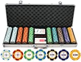 500 Piece Monte Carlo Clay Poker Chips Set (Small Image)