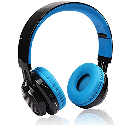 AB005 Wireless Bluetooth Headphone LED Light Stereo (Blue) - 5