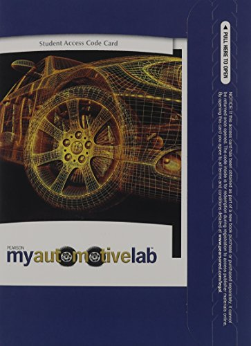 MyAutomotiveLab without Pearson eText -- Access Card