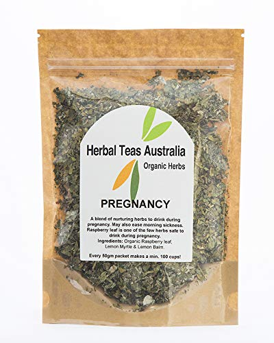Herbal Teas Australia Organic 'PREGNANCY' Tea 50gm - Organic Herbal Tea with Raspberry leaf/min 100 cups from every packet