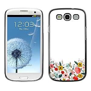 [Neutron-Star] Snap-on Series Teléfono Carcasa Funda Case Caso para Samsung Galaxy S3 [Minimalista limpias Flores de campo]