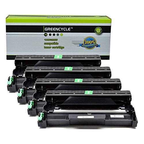 GREENCYCLE 4 Pack Compatible Brother DR420 Drum Unit Black High Yield for HL-2240D HL-2270DW HL-2280DW MFC-7360N MFC-7460DN MFC-7860DW Printer
