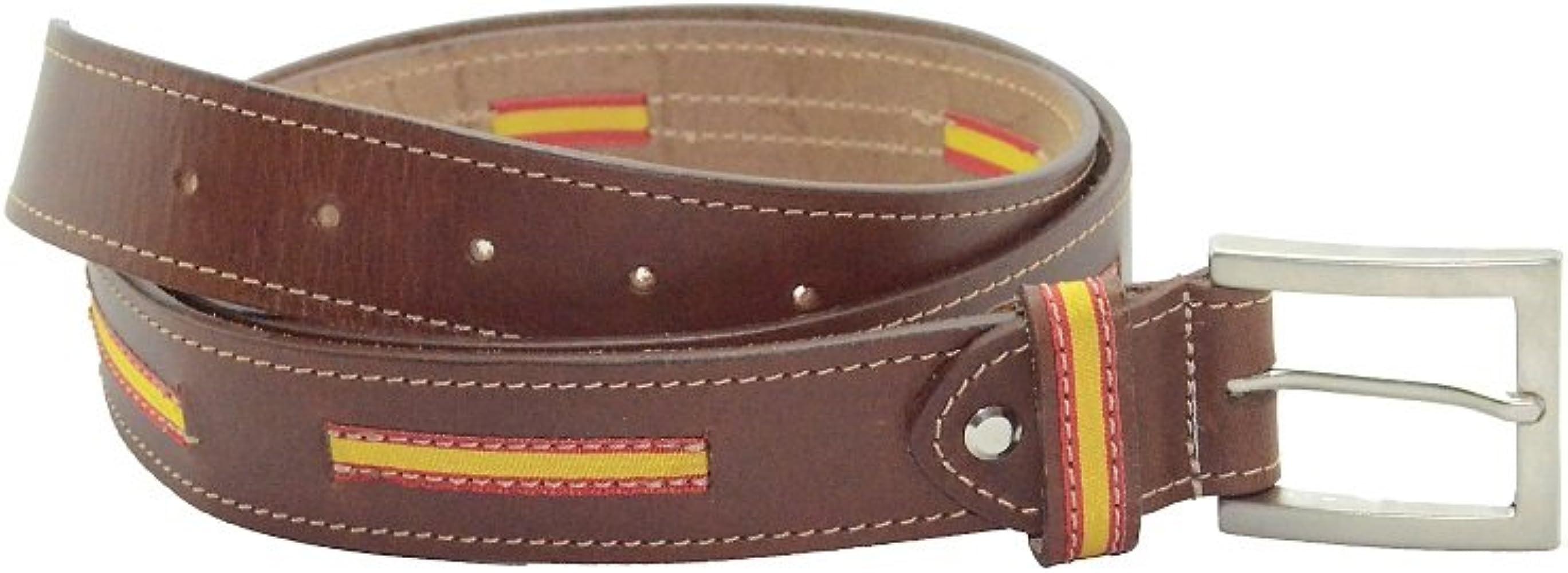 Bonake Cinturón de caballero en piel de cuello de ternera color ...