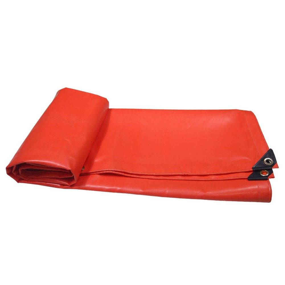 CHAOXIANG オーニング 厚い 両面 防水 耐火 耐高温性 耐寒性 耐摩耗性 耐食性 防塵の PVC 赤、 500g/m 2、 厚さ 0.4mm、 11サイズ (色 : 赤, サイズ さいず : 4×10m) B07D8S9KHD 4×10m|赤 赤 4×10m