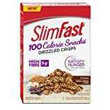 Slim Fast Advanced Nutrition 100 Calorie Snacks, Drizzled Crisps,Gluten Free, Delicious Smore's Flavour, 5 x 28g Snack Packs To Go; 140g Total Per Package of 5 Snack Packs