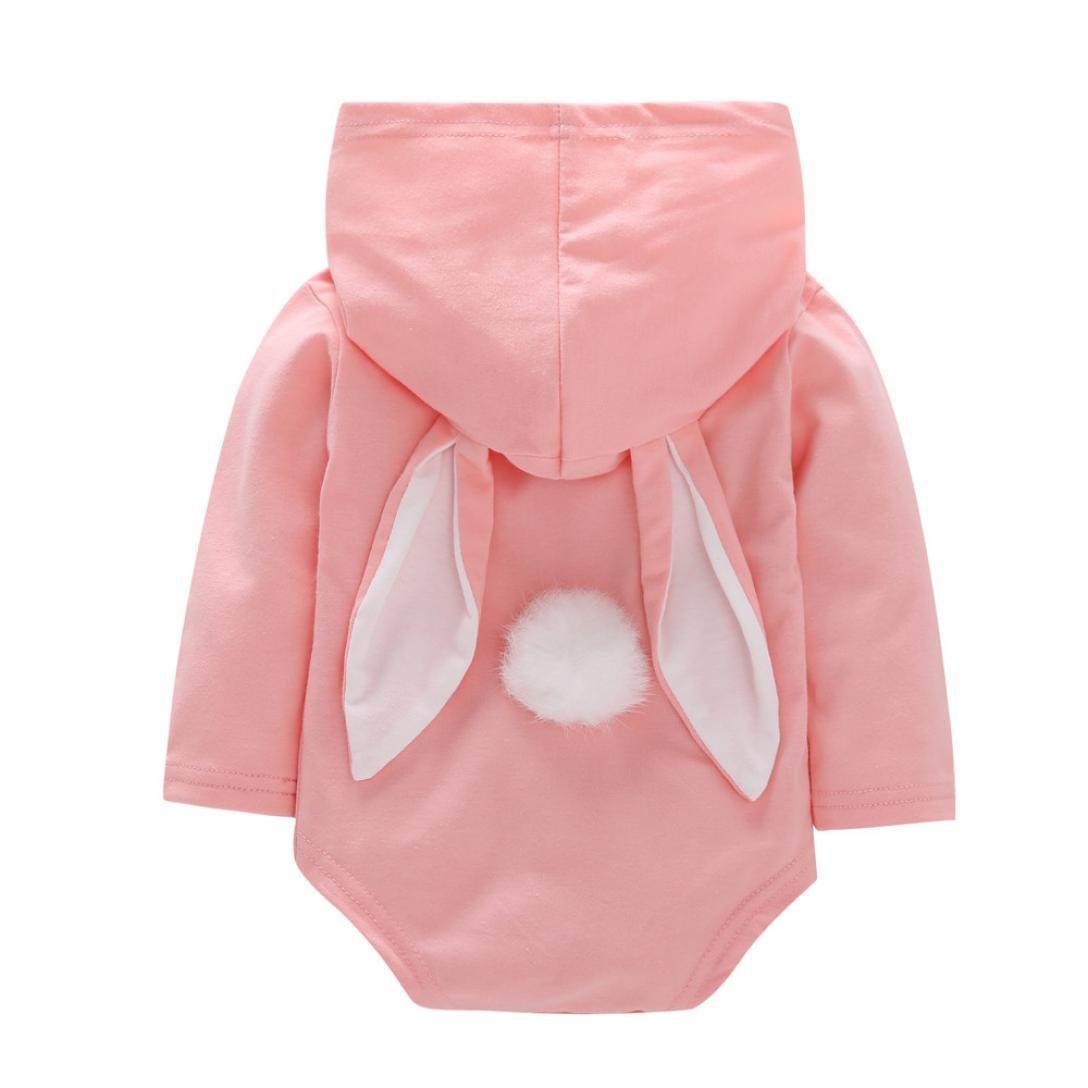 BeautyTop Baby Body Spielanzug Baby Overall Herbst Winter Kleinkind S/äuglings Baby M/ädchen Jungen Karikatur Kaninchen Ohr mit Kapuze Spielanzug Overall Ausstattungen