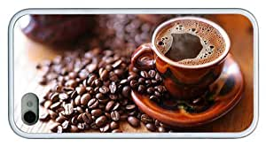 for sale iphone 5c cases hot black coffee TPU White for Apple iphone 5c