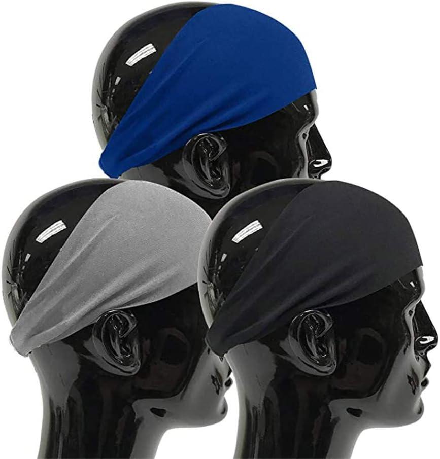 A 3 Bandeaux de Sport pour Hommes Le Bandeau de Transpiration /élastique Hydratant de Basket-Ball Utilis/é pour La Course Le Cyclisme Bandeau de Sport pour Hommes Le Yoga