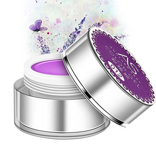 3D Nail Art Paint Draw Painting Acrylic Color UV Gel Tip DIY Kit (Purple) - 2